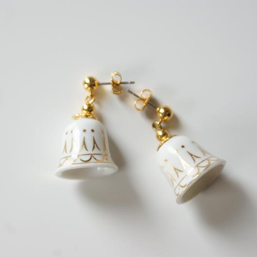 Christmas Special price【スペシャルプライス】AVONエイボン陶器 ポーセリン ベル モチーフ ピアス / ヴィンテージジュエリー・アクセサリー