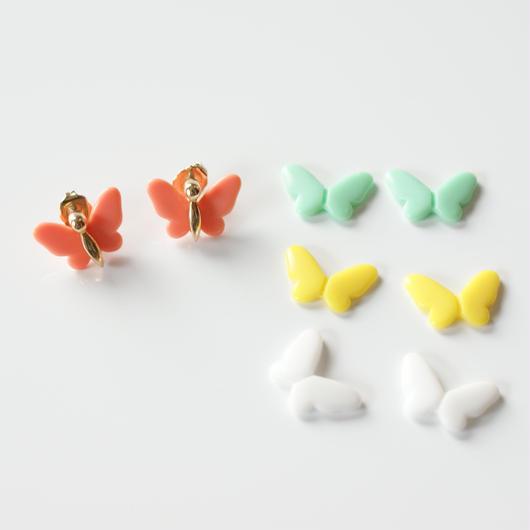 Special price【スペシャル プライス】AVONエイボン 蝶 バタフライ 4色 ピアス / ヴィンテージジュエリー・アクセサリー
