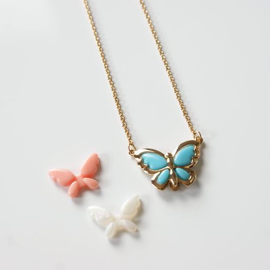 Special price【スペシャル プライス】AVONエイボン 蝶 バタフライ 3色 ネックレス / ヴィンテージジュエリー・アクセサリー