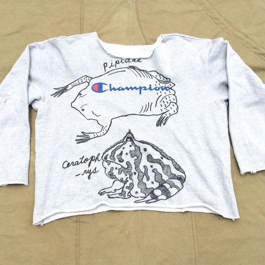 【on champion】OMA overdrawing  トレーナー|sweatshirt 48 mutation length (let it be)カエル|frog