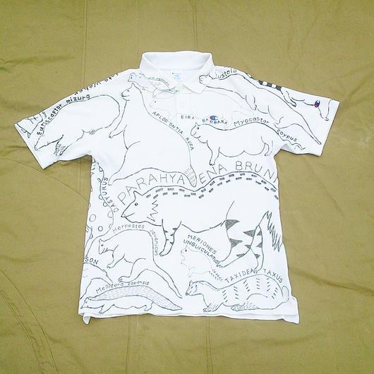【on champion】OMA overdrawing ポロシャツ 01「動物アソート|Animal assort」