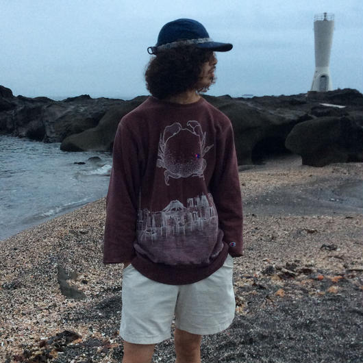 【on champion】sweatshirt 67 2top,satisfaction,mutation length     蟹と自然災害、乾電池と原始の海