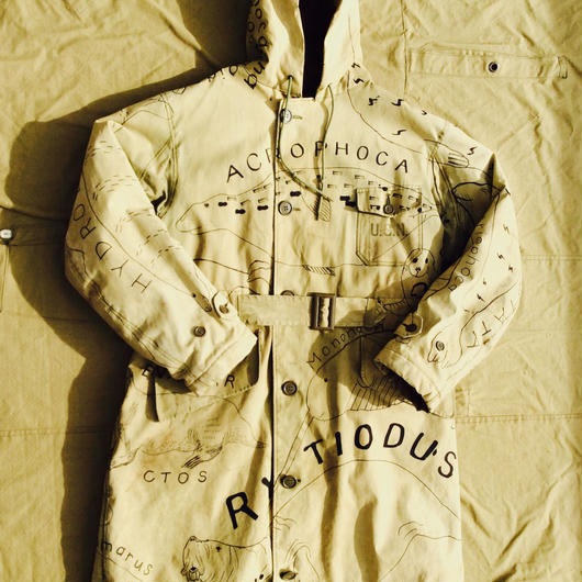 【on military】OMA overdrawing デッキコート|coat  01「海獣|Marine animals」