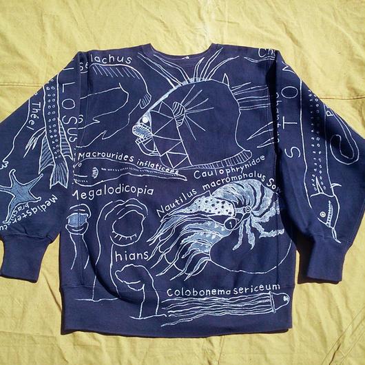【on champion】OMA  overdrawing トレーナー 14 Satisfaction 「深海生物 deepsea creatures」