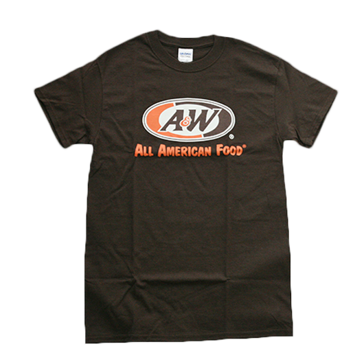A&WロゴTシャツ:ブラウン
