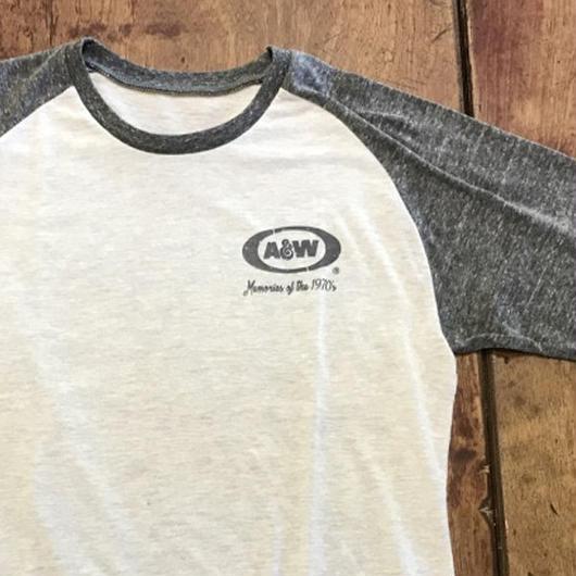 A&Wヴィンテージ七分袖Tシャツ:ホワイト