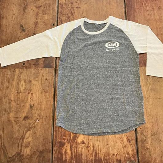 A&Wヴィンテージ七分袖Tシャツ:グレー