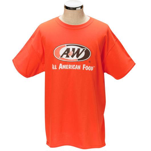 A&WロゴTシャツ:オレンジ