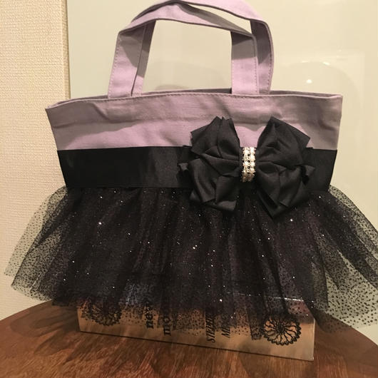 Frilly Bag by grace a vousブラックチュール