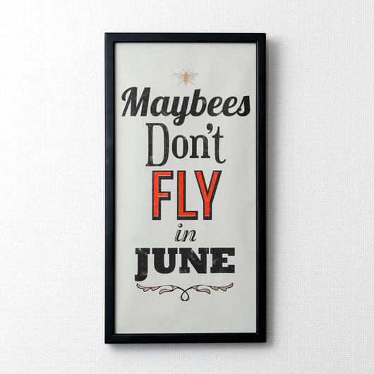 Maybees don't fly in June(ブラック×バーミリオン)