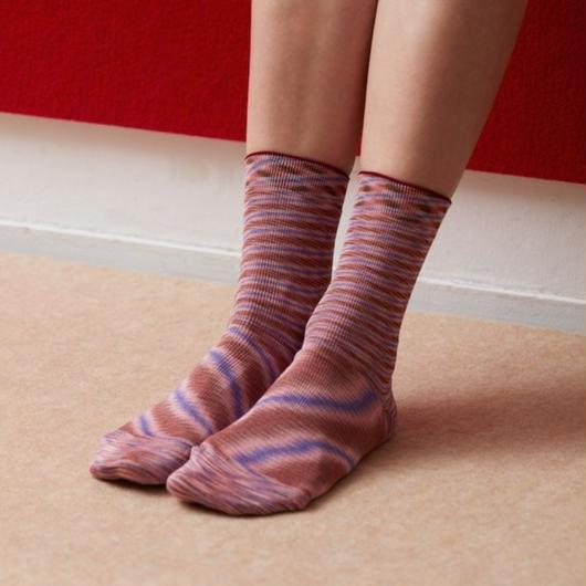 space dyed silk socks