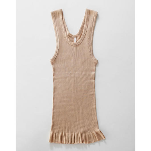 giza cotton fine ribbed tank top