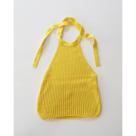 loose knitted halter neck top