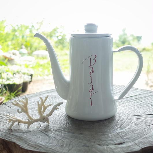 コーヒーを美味しくドリップ出来るBajariの琺瑯ケトル(容量1200ml)