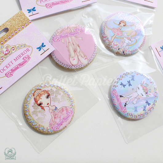 POCKET MIRRORS 'BALLERINA'(本体価格:¥750)