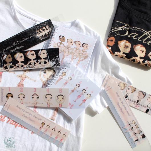Bookmarks・しおり 'Ballet Papier'(本体価格:¥480)