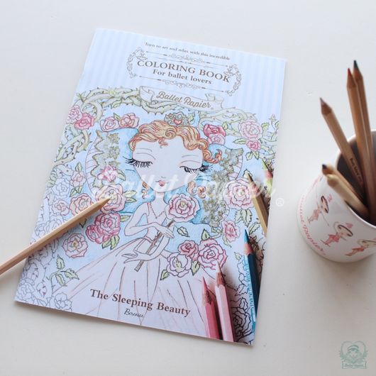 The Sleeping Beauty Ballet Colouring Book ぬりえ(本体価格:¥800)
