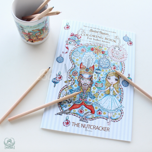 【限定】The Nutcracker Ballet Colouring Book ぬりえ(本体価格:¥800)