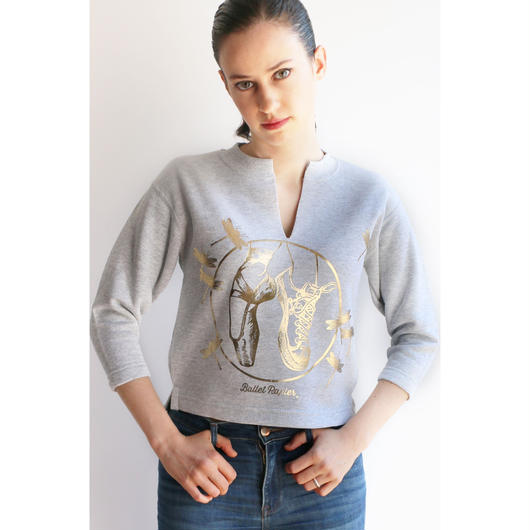 CROPPED PULLOVER  'GOLD DANCE MOOD'(本体価格:¥5,800)