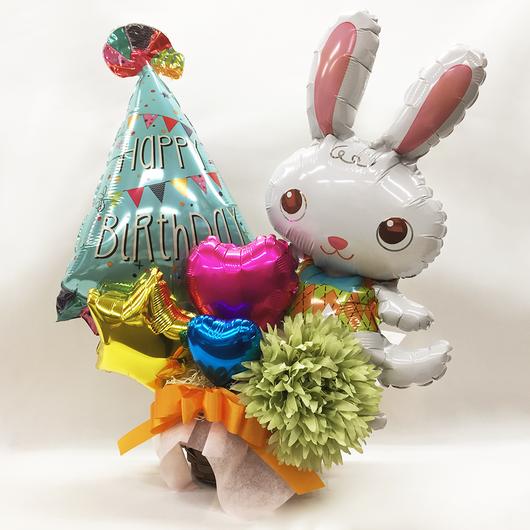 Happy Birthday!うさぎのバルーンアレンジ