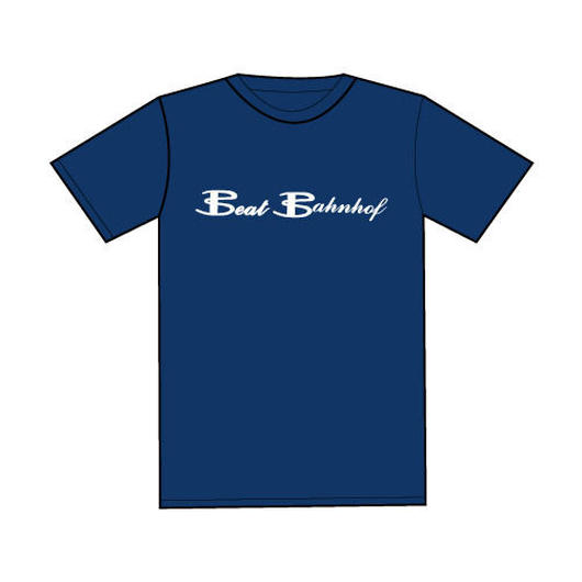 Logo T-Shirt 下地カラー:ネイビー/ロゴカラー:白