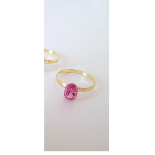 amulet ring(オーバル/ピンクトルマリン)
