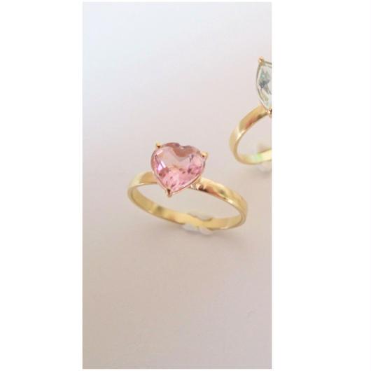 amulet ring(ハート/ピンクトルマリン)