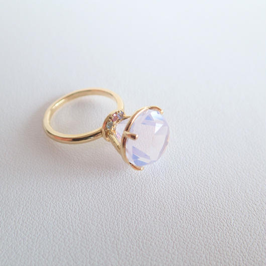 Jewel Ring  L (ミルキーアメジスト)