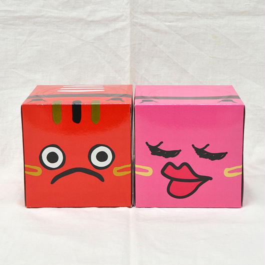 キューブ型ティッシュBOX 2個セット
