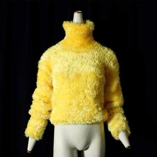 Yellow Shaggy Knit