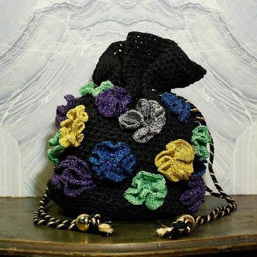 【TICA】Metallic Flower Bag