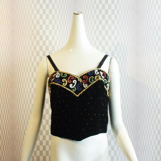 Vintage【Style Works】Velvet Crochet