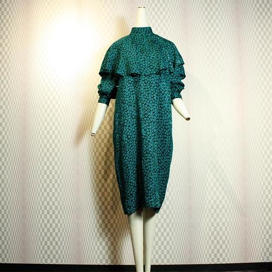 【st.Malo】Vintage Silk Clover Dress