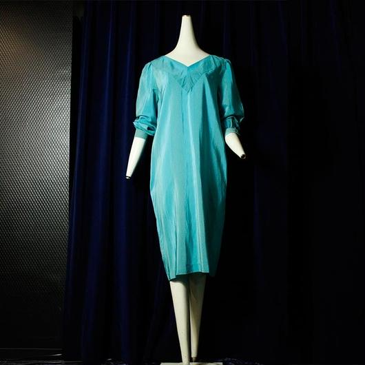 【GUCCiNi】Light  blue  Silk Dress