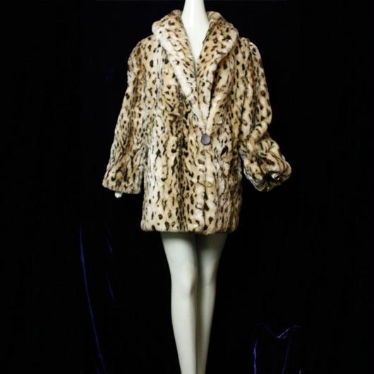 1970's Vintage 【Hill moon】Leopard Fakefurcoat