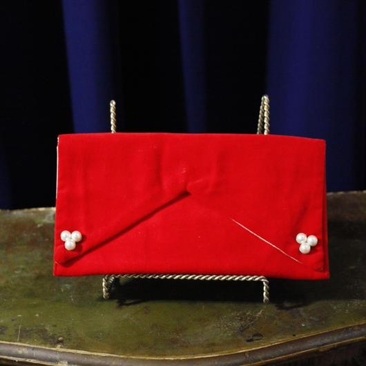 Vintage Velvet Red Pouch