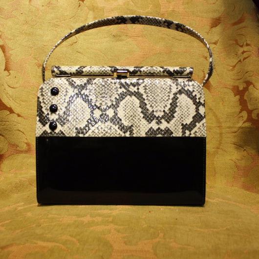 1950's Vintage【a Naturalinger】 Python Hand Bag