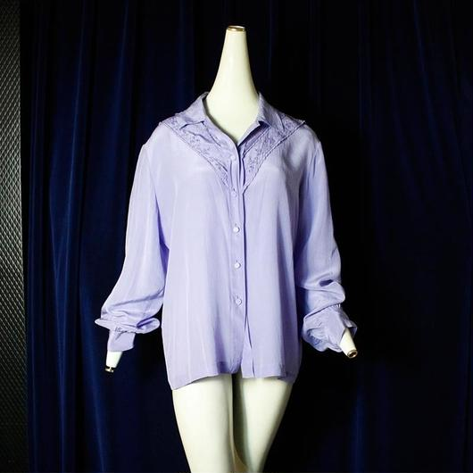 Silk Lavender Shirt