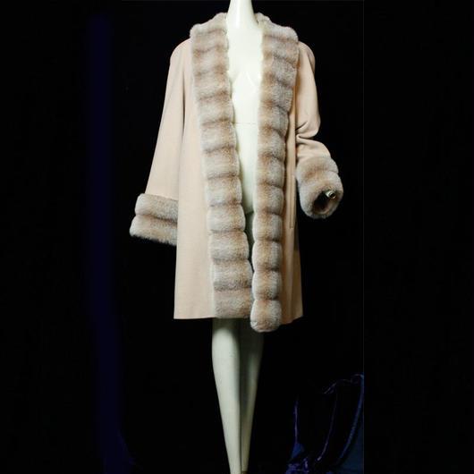 Vintage【ALORNA】 Wool Fur Coat