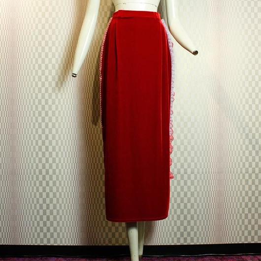 【bed】Remake Velour Long Skirt