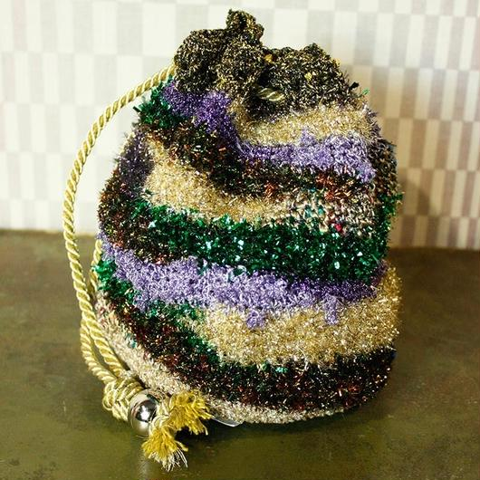 【TICA】Metallic Mosaic Bag  (XS)