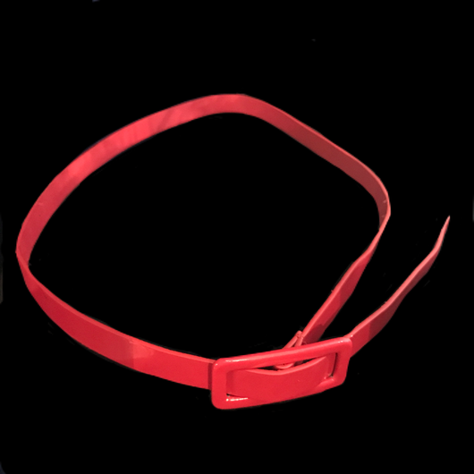 【Guess】Enamel  Slim Belt<RED>