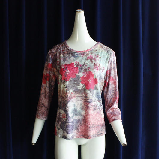 Pink Oriental  Velour Tops