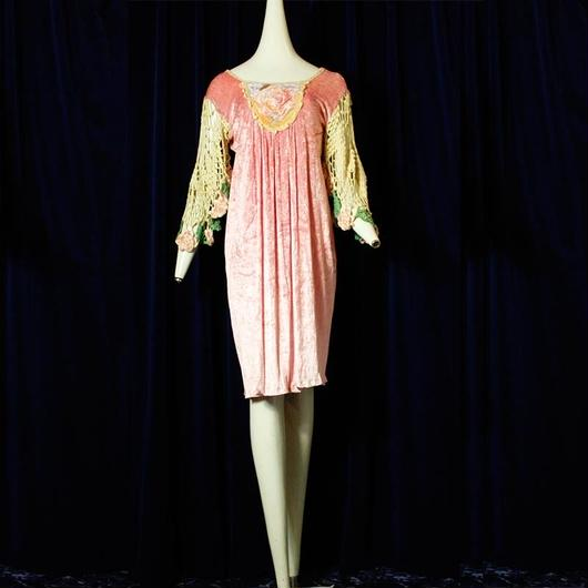 1970's Pink Velours Special dress