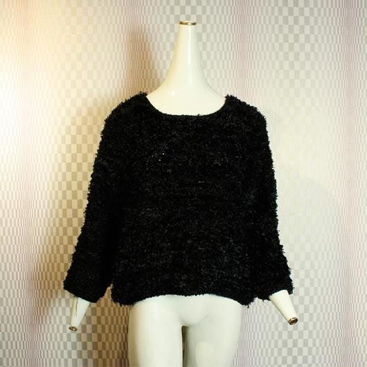 Black Shaggy Knit