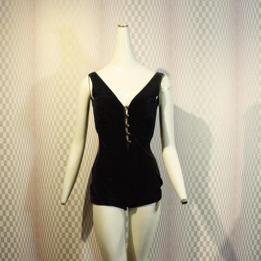 1950's Vintage Velvet Swim Suit