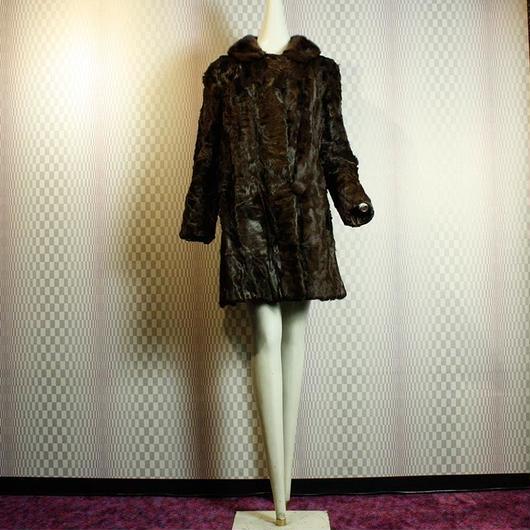 1950's Vintage Fur Coat / Brown