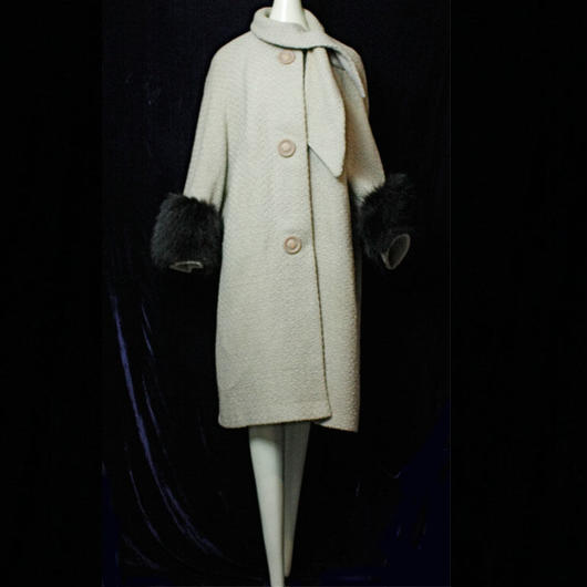 1960's Vintage【Brian Lee JUNIORS】 Wool Fur Coat