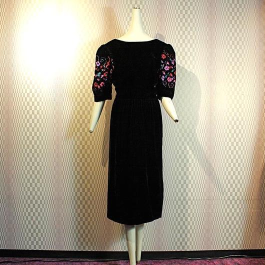 Flower Velvet Dress