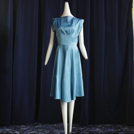 1950's Vintage【Vicky Vauqhm】 Satin Dress